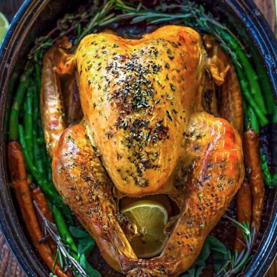 Thanksgiving recipe blog garlic herbed turkey