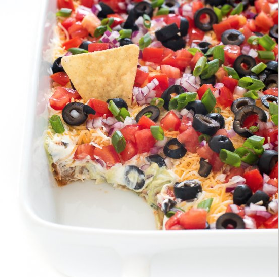 7 Layer Mexican Dip recipe, Cinco de Mayo blog