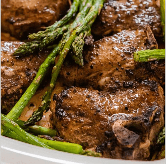 oven baked lamb chops with mint