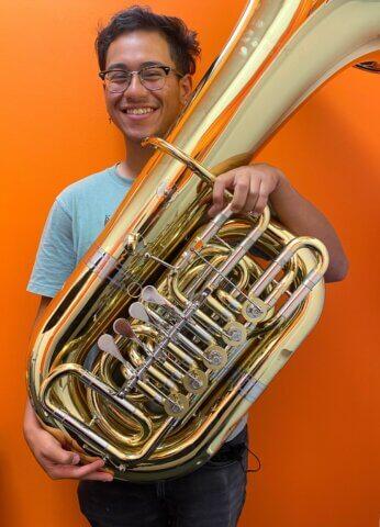 Jeremiah Moya, Brass teacher at Center Stage Music Center